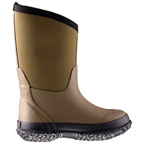 MCIKCC Kids Waterproof Rain Boots,High Snow Boots for Toddler Boys Girls,Textile Rubber Sole