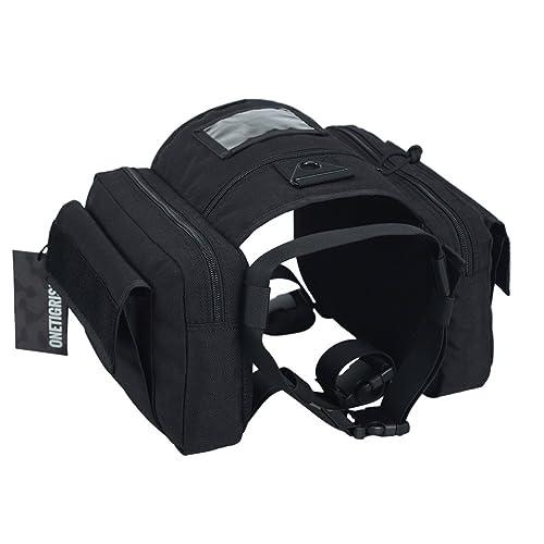 28db026891d5 OneTigris Dog Pack Hound Travel Camping Hiking Backpack Saddle Bag Rucksack  for Medium & Large Dog
