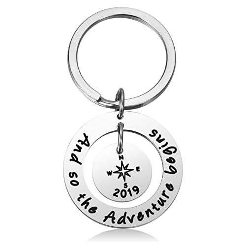 CJ/&M Graduation Gift Jewelry Stainless Steel 2019 She Believed She Could So She Did Keychain Inspirational Gift for Girl,Women.