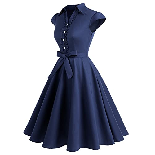 67046e6a09 PrevNext. PrevNext. Wedtrend Women's 1950s Retro Rockabilly Dress Cap  Sleeve Vintage ...