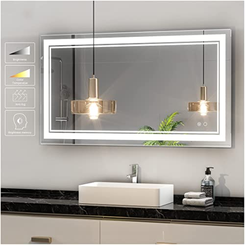 Buy Keonjinn 40 X 24 Inch Led Bathroom Vanity Mirrors Wall Mounted Adjustable Yellow Warm White Daylight Lights Anti Fog Touch Switch Makeup With Memory Mirror Online In Canada B086qt4t6x