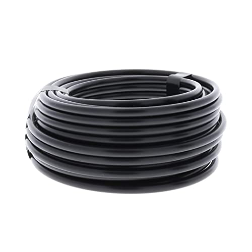 "1//4/"" Poly Dripline 12/"" Spacing 0.5 GPH 100/' Roll Black Drip Tubing"