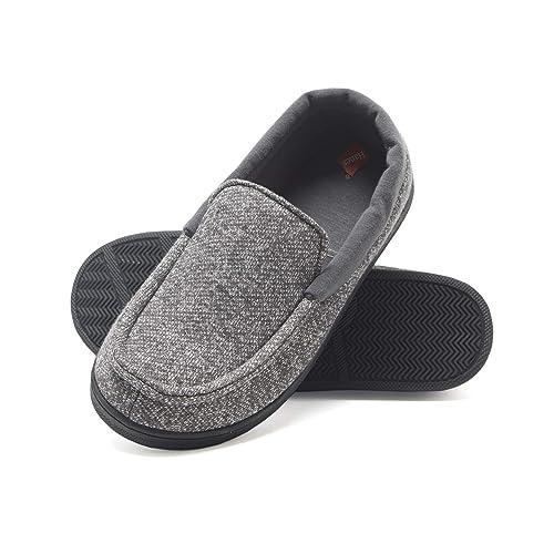 LA PLAGE Boys//Little Kid Winter Warm Indoor Slip-on Slippers with Hard Anti-Slipping Sole Size 9-10 US Dinosaur