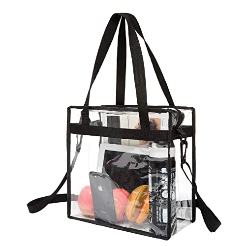 f504ed5ab999 BAGAIL NFL and PGA Stadium Approved Clear Tote Bag with Zipper Closure  Crossbody Messenger Shoulder Bag with Adjustable Strap