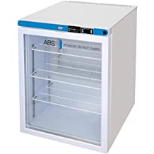Left Hinged Built-in Capacity 4.2 cu American BioTech Supply PH-ABT-HC-UCBI-0420SS-LH Premier Pharmacy//Vaccine Undercounter Freezer ft Stainless Steel